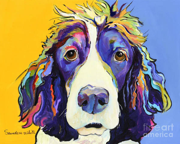 Blue Print featuring the painting Sadie by Pat Saunders-White