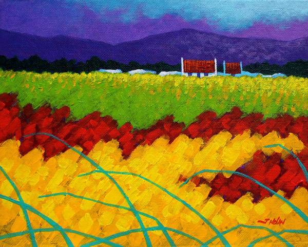 Landscape Print featuring the painting Spring Meadow by John Nolan