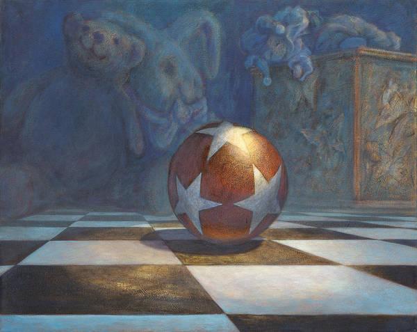 Leonard Filgate Print featuring the painting The Ball by Leonard Filgate
