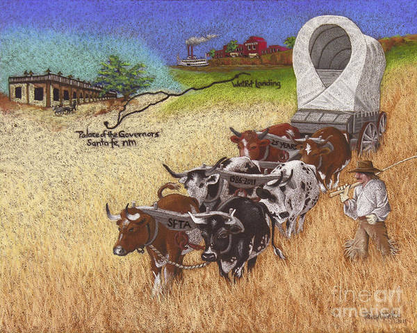 Twenty Print featuring the pastel 25th Anniversary Santa Fe Trail Association by Tracy L Teeter