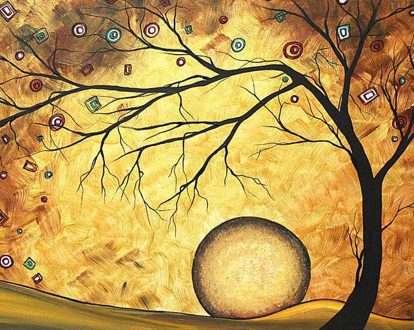 Art Print featuring the painting Across The Golden River By Madart by Megan Duncanson