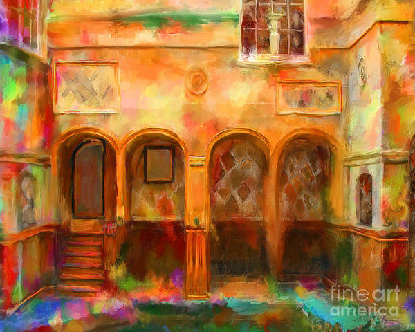 bath England Print featuring the mixed media Bath England by Marilyn Sholin