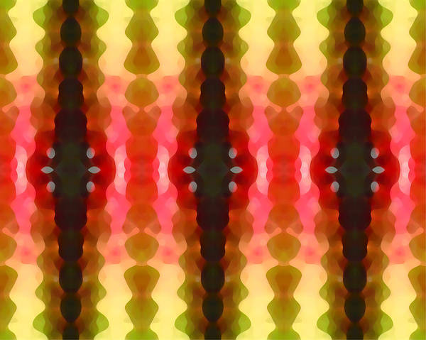 Abstract Print featuring the painting Cactus Vibrations 2 by Amy Vangsgard