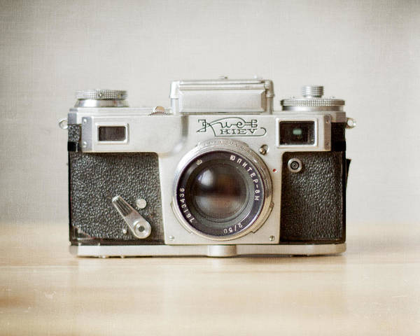 Old Camera Print featuring the photograph Kiev by Violet Gray