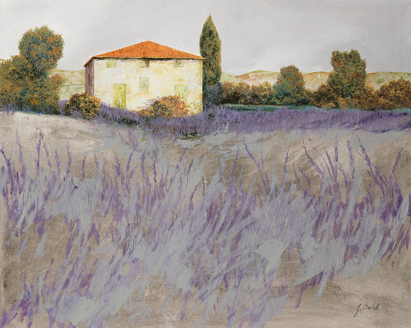 Lavender Print featuring the painting Lavender by Guido Borelli