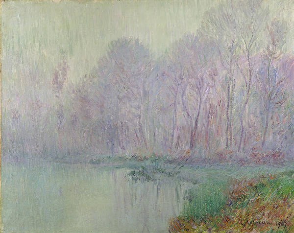 Morning Print featuring the painting Morning Mist by Gustave Loiseau