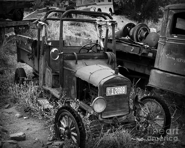 Car Print featuring the photograph Old Times 2 by Perry Webster