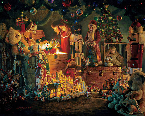 Santa Claus Print featuring the painting Reason For The Season by Greg Olsen