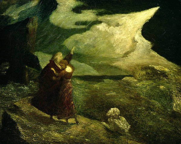 The Print featuring the photograph The Tempest by Albert Pinkham Ryder