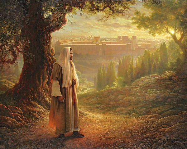 Jesus Print featuring the painting Wherever He Leads Me by Greg Olsen