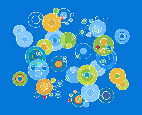 Colorful Print featuring the painting Colorful Circles by Frank Tschakert