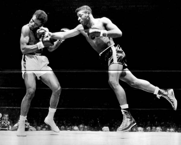 Retro Images Archive Print featuring the photograph Floyd Patterson Throwing Hard Punch by Retro Images Archive