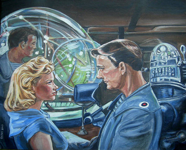 Forbidden Planet Print featuring the painting Forbidden Planet by Bryan Bustard