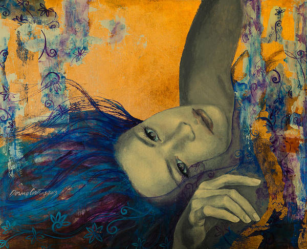 Art Print featuring the painting Within Temptation by Dorina Costras