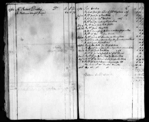 1762 Print featuring the photograph Madison: Account Book by Granger
