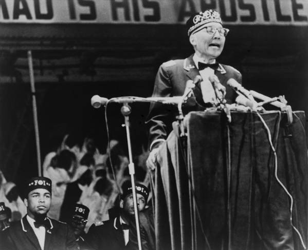 History Print featuring the photograph Elijah Muhammad, Leader Of The Black by Everett