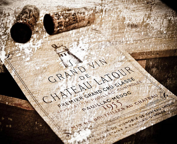 Frank Tschakert Print featuring the mixed media Great Wines Of Bordeaux - Chateau Latour 1955 by Frank Tschakert