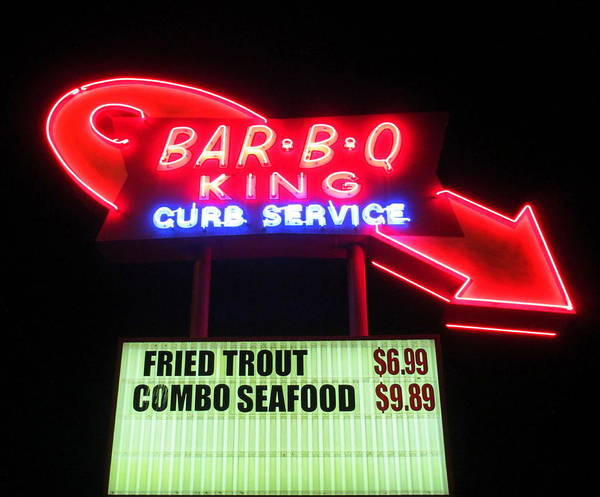 Barbeque Print featuring the photograph Bar B Q King In Charlotte N C by Randall Weidner