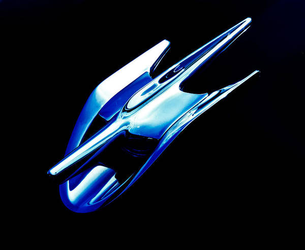 Chrome Emblem Print featuring the photograph Blue Chrome Jet by Phil 'motography' Clark