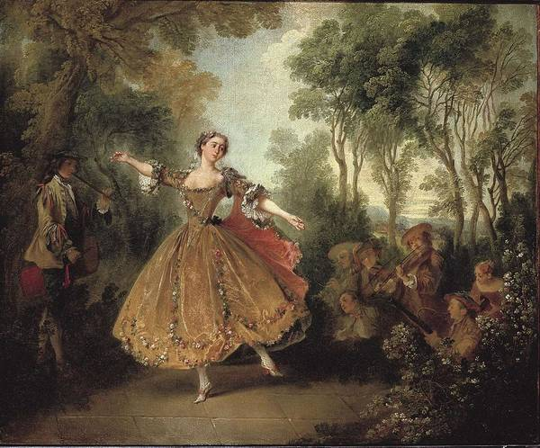 Woman Print featuring the photograph Lancret, Nicolas 1690-1743. Mlle by Everett