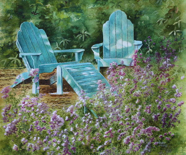 Peaceful Scene Print featuring the painting Retirement II by Patsy Sharpe