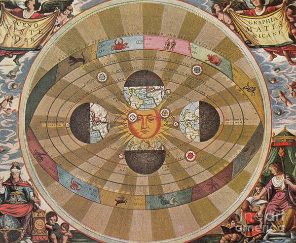 Science Print featuring the photograph Copernican World System, 17th Century by Science Source