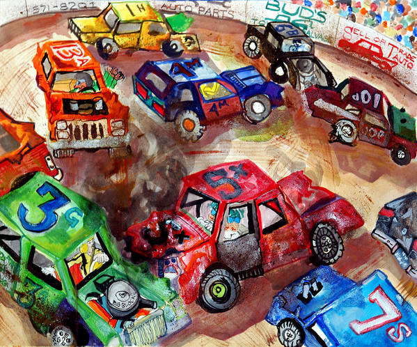 Gm Print featuring the painting Demo Derby One by Jame Hayes