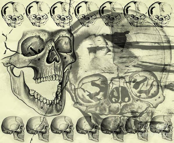 Halloween Print featuring the digital art Halloween In Grunge Style by Michal Boubin