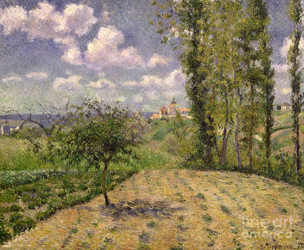 Camille Print featuring the painting Spring by Camille Pissarro