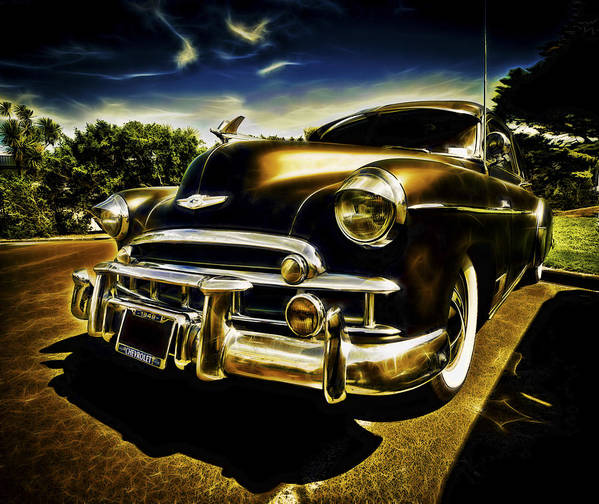 Custom Chevy Print featuring the photograph 1949 Chevrolet Deluxe Coupe by motography aka Phil Clark