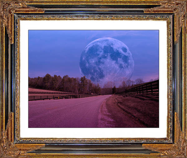 Moonshine Print featuring the digital art Inspiration In The Night by Betsy Knapp