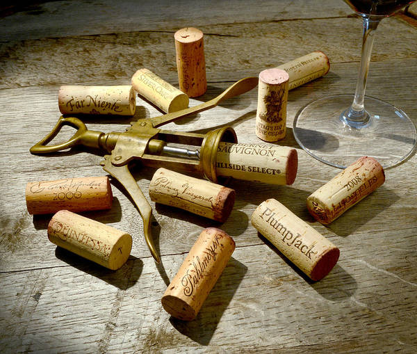 Wine Corks Print featuring the photograph Old Friends by Jon Neidert