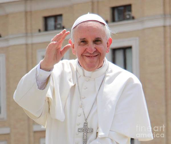 Pope Print featuring the photograph Pope Francis by Diane Greco-Lesser