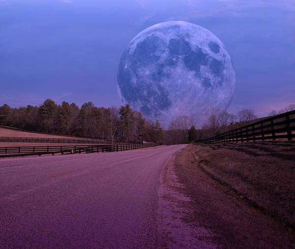 Full Print featuring the photograph The Peace Moon by Betsy Knapp