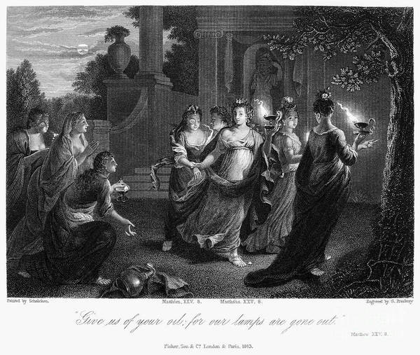 Christianity Print featuring the photograph Parable Of Virgins by Granger
