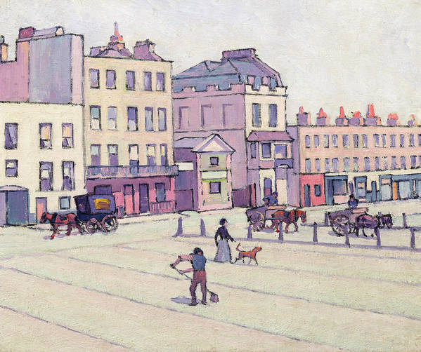 Xyc153929 Print featuring the photograph The Weigh House - Cumberland Market by Robert Polhill Bevan