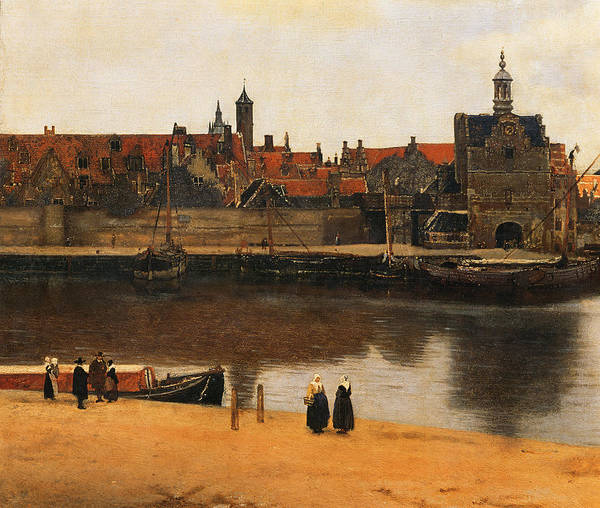 View Of Delft Print featuring the painting View Of Delft by Jan Vermeer