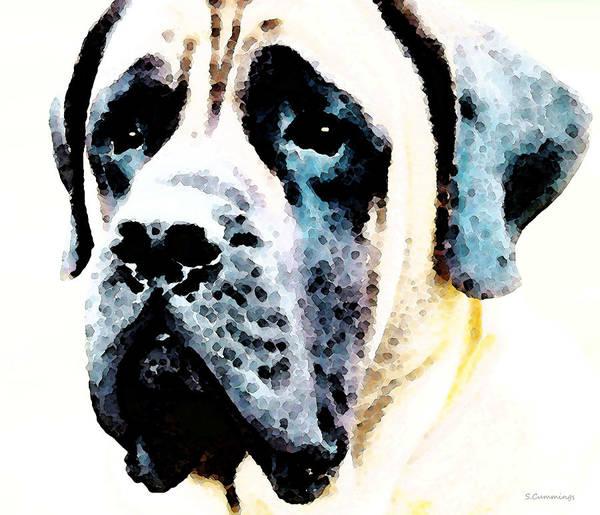 Mastiff Print featuring the painting Mastif Dog Art - Misunderstood by Sharon Cummings