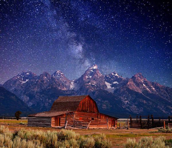 Grand Teton Print featuring the photograph Teton Nights by Darren White