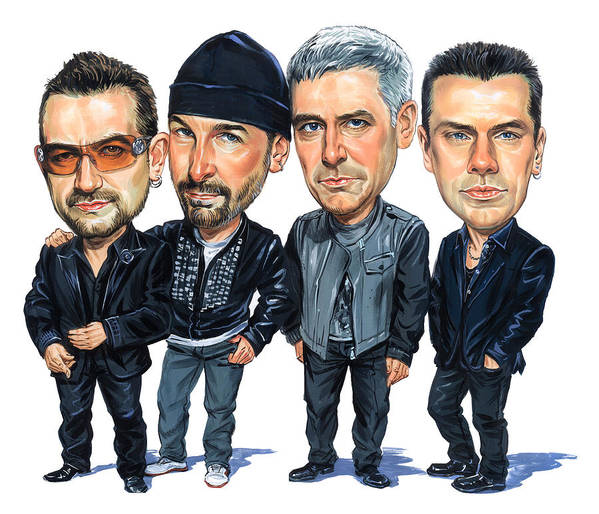 U2 Print featuring the painting U2 by Art