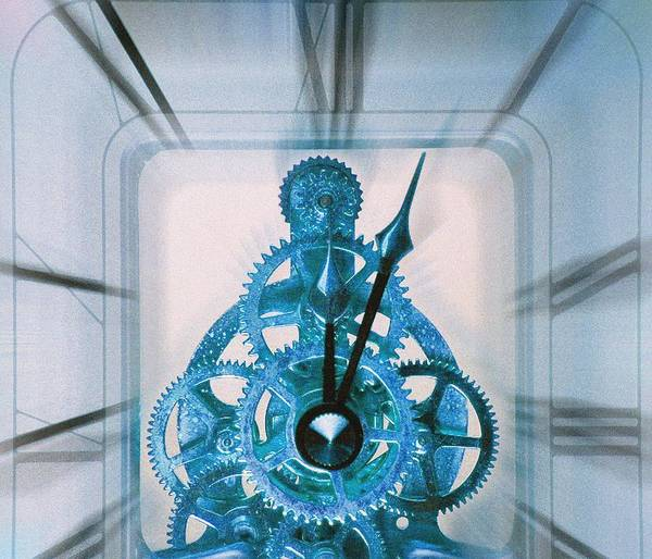 Clock Print featuring the photograph Clock Mechanism by Victor De Schwanberg