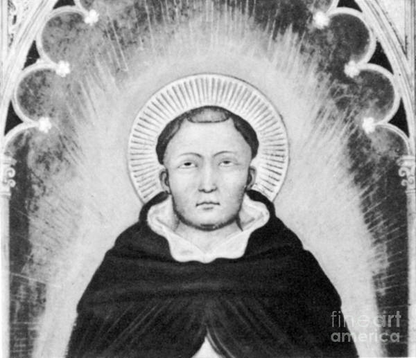 History Print featuring the photograph Thomas Aquinas, Italian Philosopher by Science Source