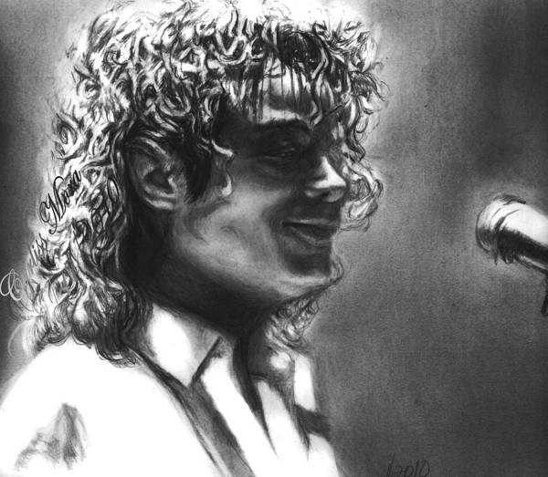 Mj Print featuring the drawing Dirty Diana by Carliss Mora