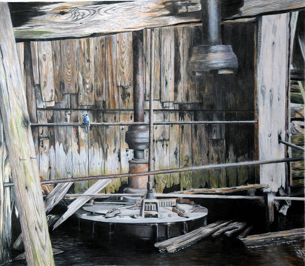 Old Water Mill Drawings For Sale