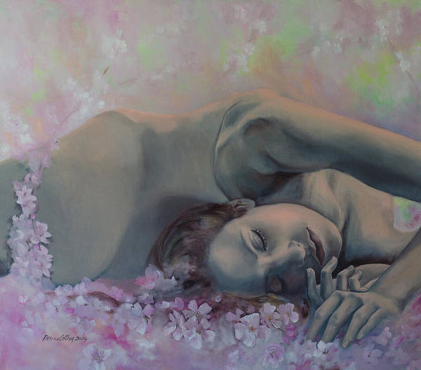 Fantasy Print featuring the painting Revival by Dorina Costras