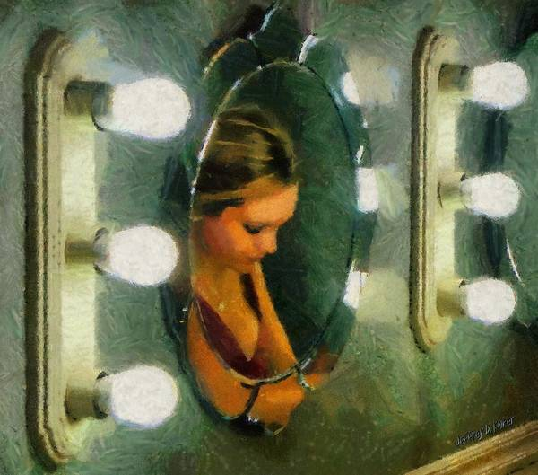 Bridesmaid Print featuring the painting Mirror Mirror On The Wall by Jeff Kolker