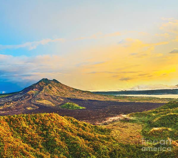 Volcano Print featuring the photograph Volcano Batur by MotHaiBaPhoto Prints