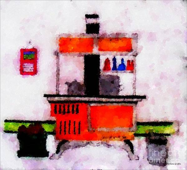 Enterprise Woodstove Print featuring the digital art Enterprise Woodstove by Barbara Griffin