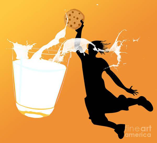 Digita Art Print featuring the digital art I Can Dunk by Laura Brightwood