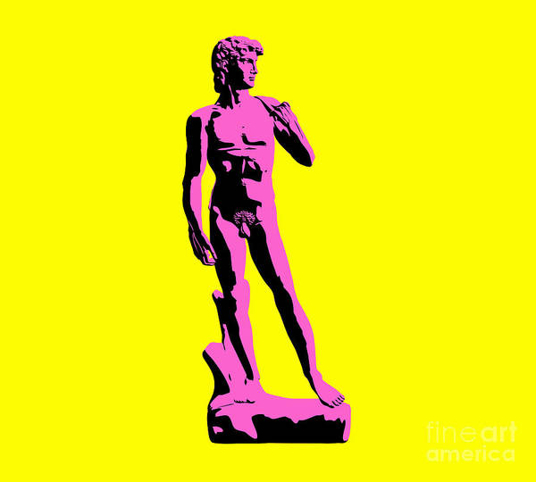 Michelangelo Print featuring the sculpture Michelangelos David - Punk Style by Pixel Chimp